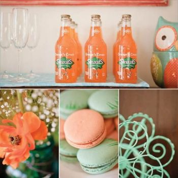 Orange and aqua